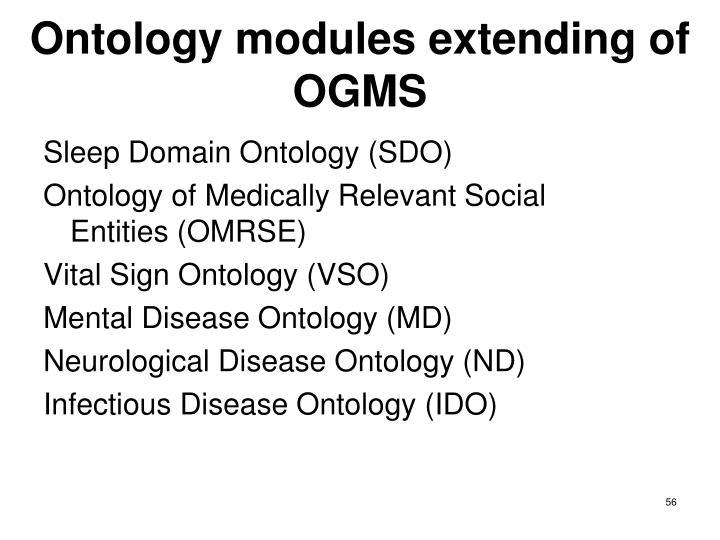 Ontology modules extending of OGMS