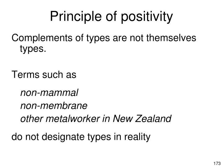 Principle of positivity