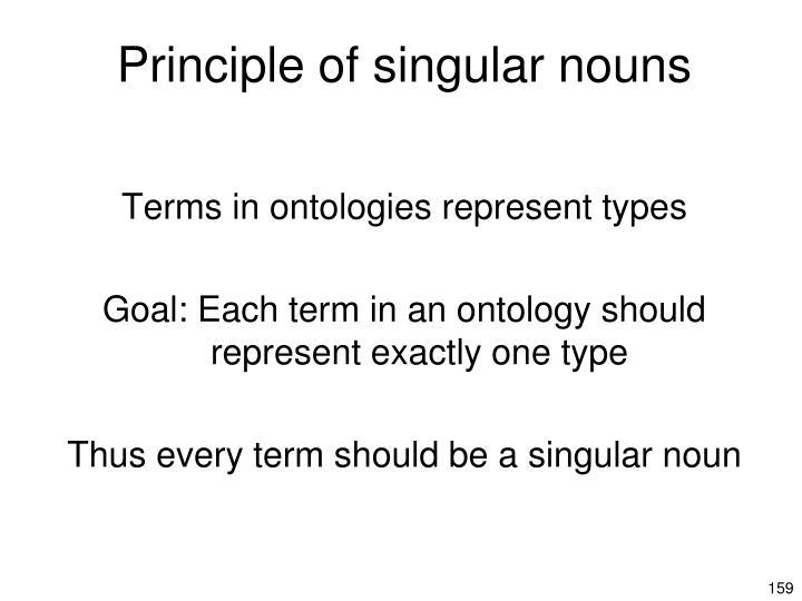 Principle of singular nouns