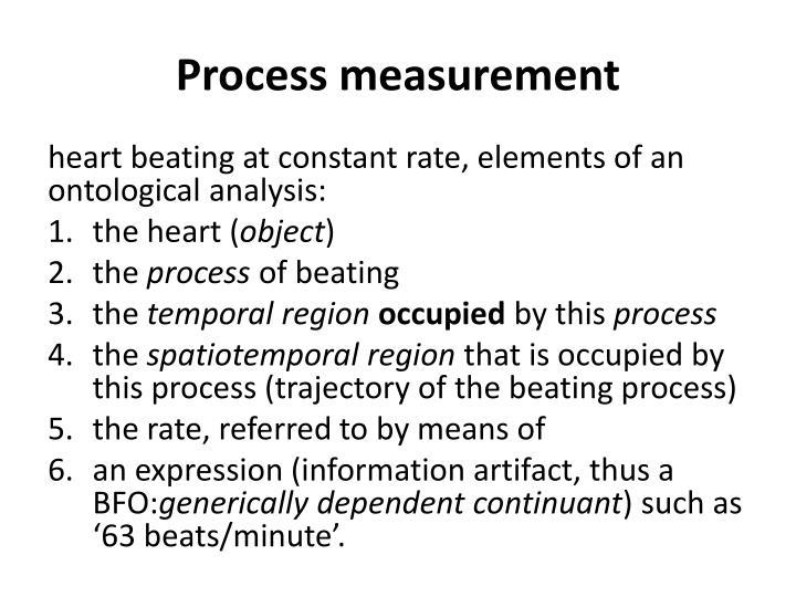 Process measurement