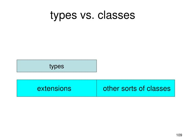 types vs. classes