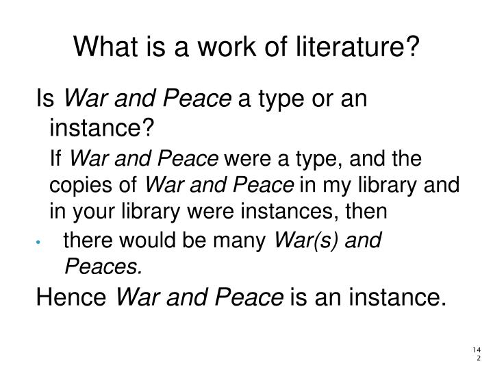 What is a work of literature?