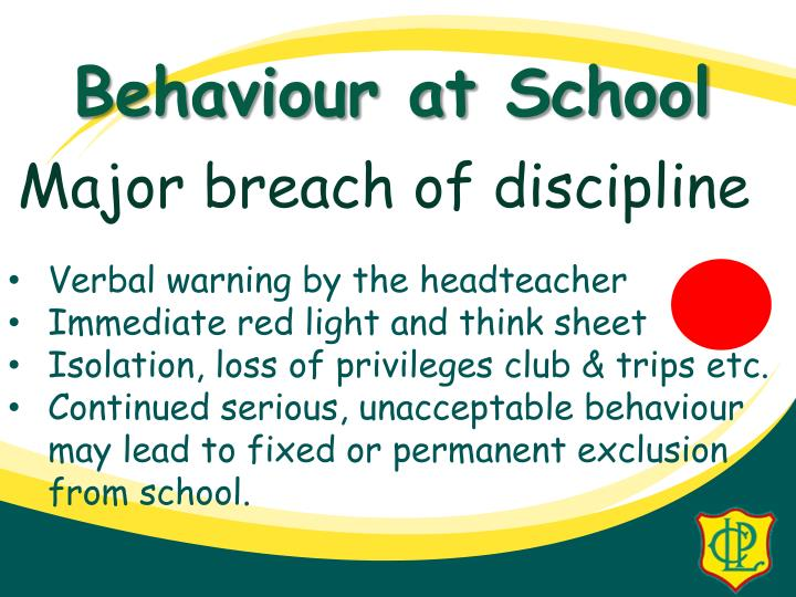 Major breach of discipline