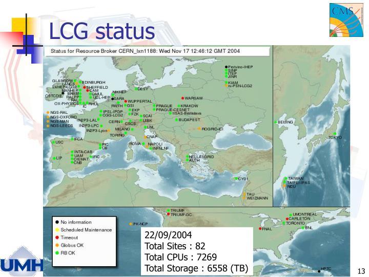 LCG status
