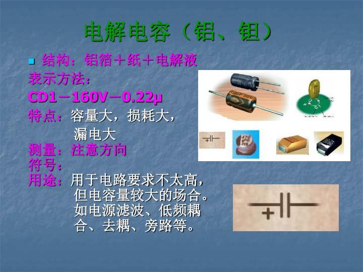 电解电容(铝、钽)