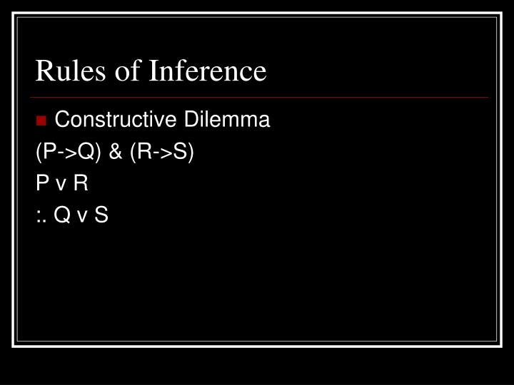Rules of Inference
