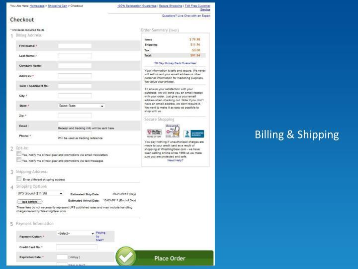 Billing & Shipping