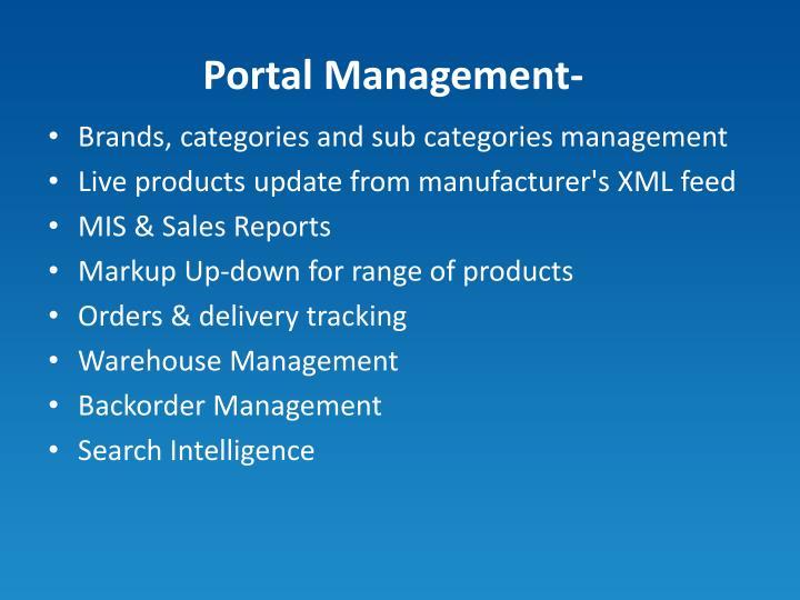 Portal Management-