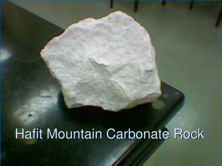 Hafit Mountain Carbonate Rock