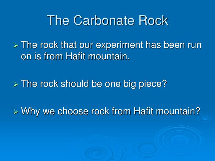 The Carbonate Rock