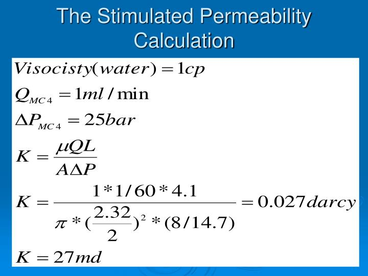 The Stimulated Permeability Calculation