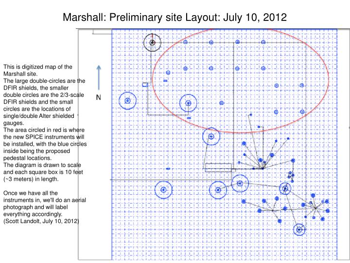 Marshall: Preliminary site Layout: July 10, 2012