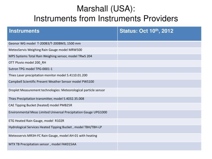 Marshall (USA):