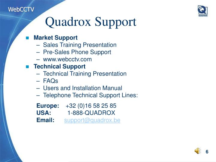 Quadrox Support