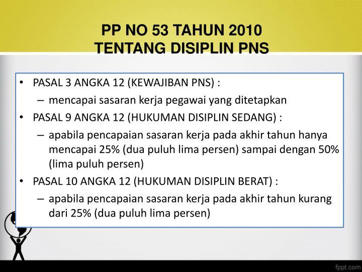 PP NO 53 TAHUN 2010
