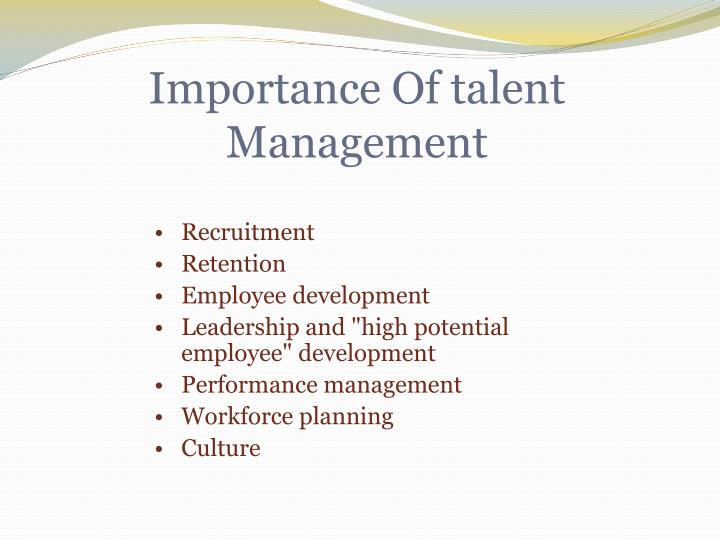 Importance Of talent Management
