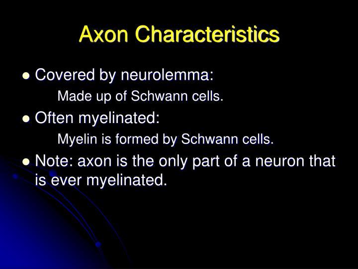 Axon Characteristics