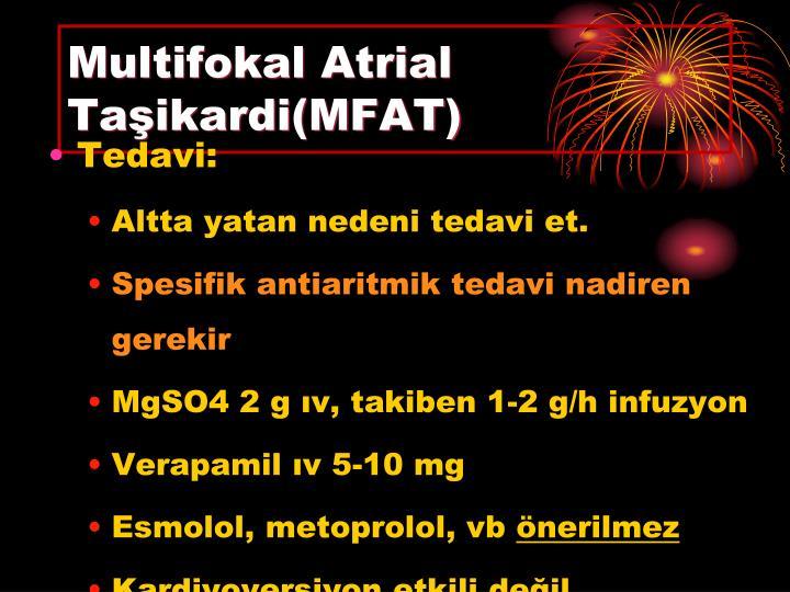 Multifokal Atrial Taşikardi(MFAT)