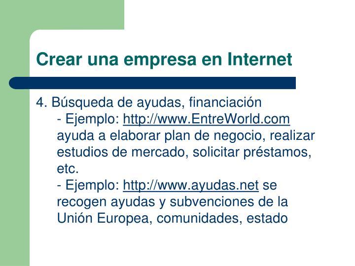 Crear una empresa en Internet