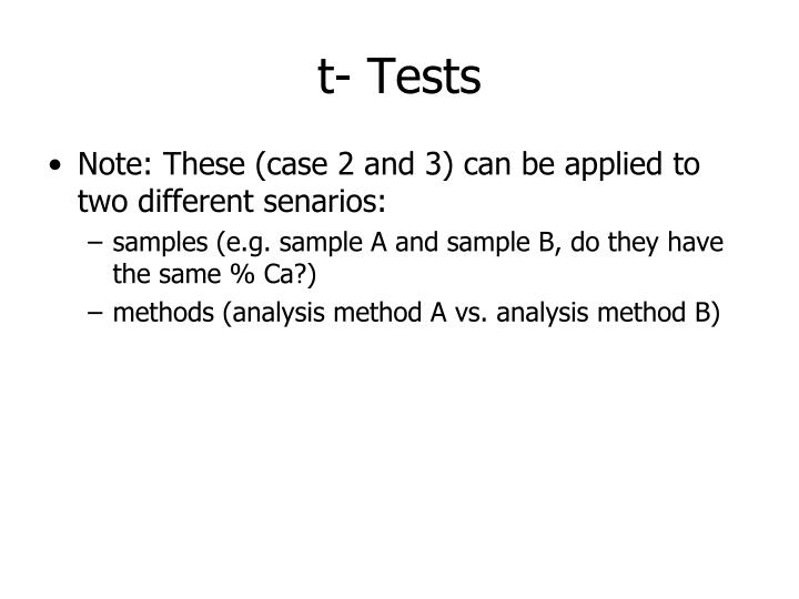 t- Tests