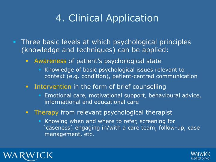 4. Clinical Application