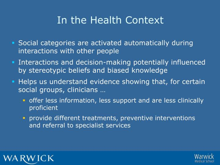 In the Health Context