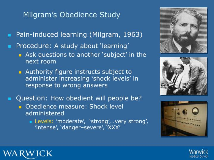 Milgram's Obedience Study
