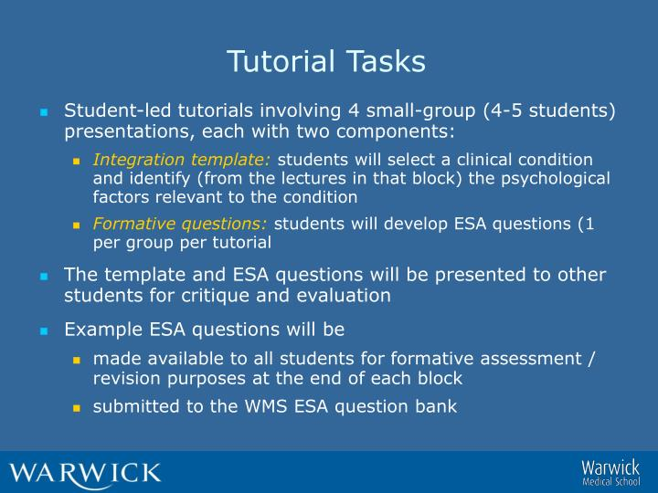 Tutorial Tasks