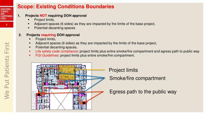 Scope: Existing Conditions Boundaries