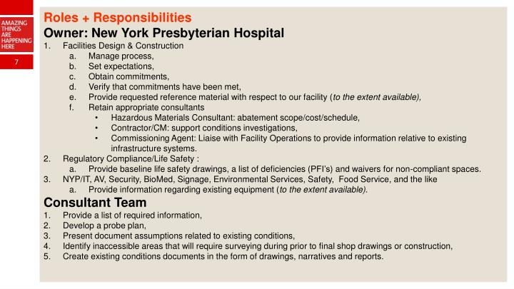 Roles + Responsibilities