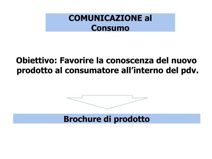 COMUNICAZIONE al Consumo