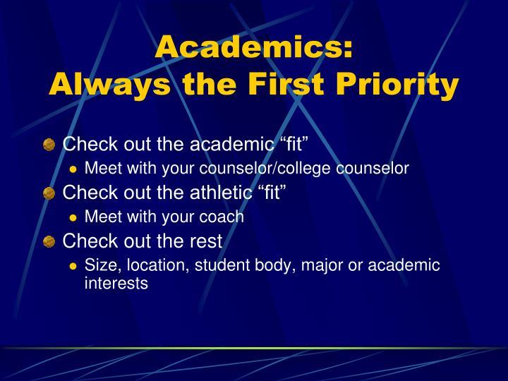 Academics: