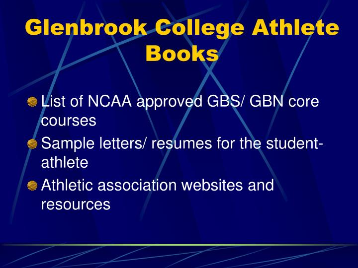 Glenbrook College Athlete Books