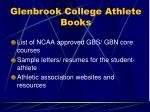 glenbrook college athlete books