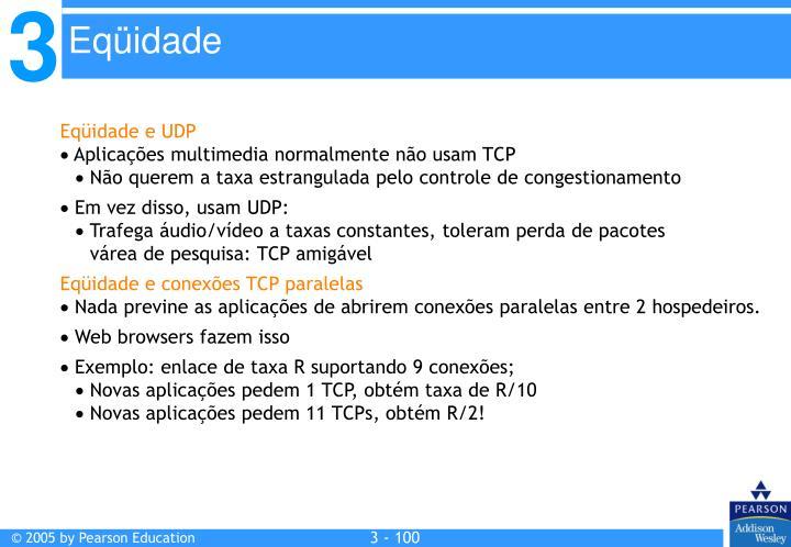 Eqüidade e UDP