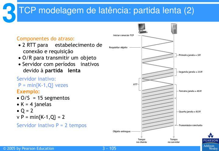 TCP modelagem de latência: partida lenta (2)