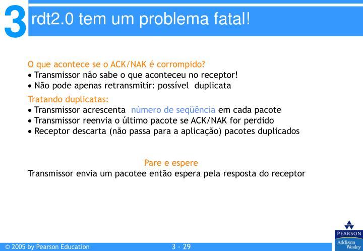 O que acontece se o ACK/NAK é corrompido?