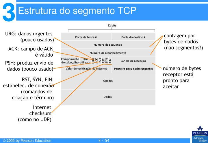 Estrutura do segmento TCP