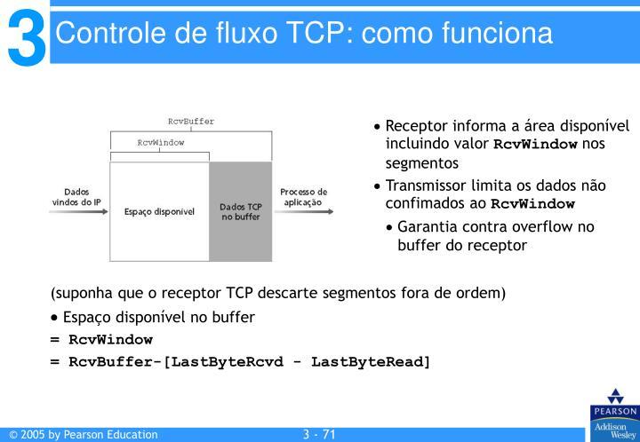 (suponha que o receptor TCP descarte segmentos fora de ordem)
