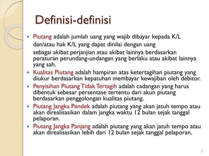 Definisi-definisi