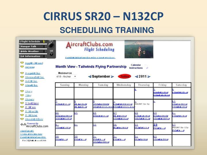 CIRRUS SR20 – N132CP
