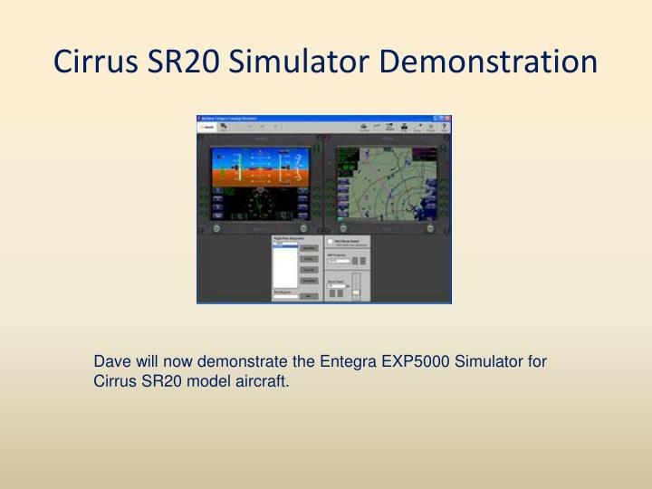 Cirrus SR20 Simulator Demonstration