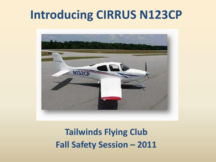 Tailwinds flying club fall safety session 2011