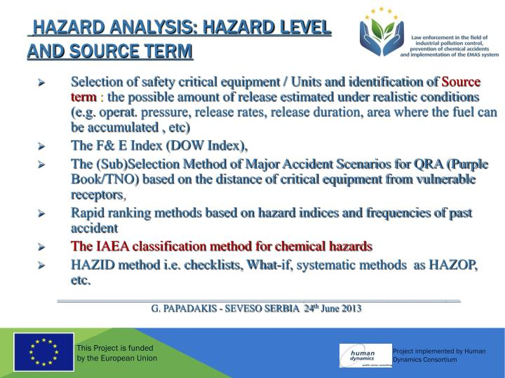 HAZARD ANALYSIS: Hazard Level