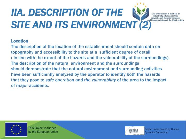 IIA. Description of the