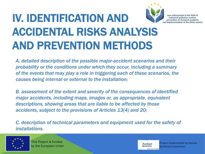 IV. Identification and Accidental Risks Analysis