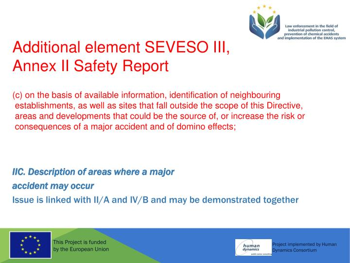 Additional element SEVESO III,