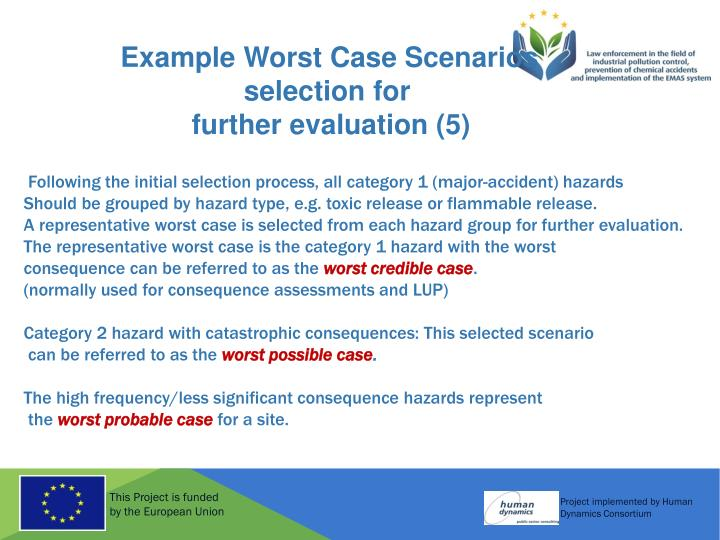 Example Worst Case Scenarios