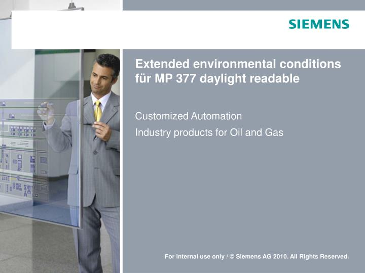 Extended environmental conditions f r mp 377 daylight readable