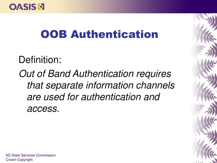 OOB Authentication